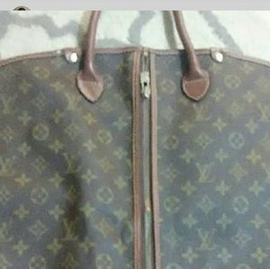 VTG Louis Vuitton Monogram 3 Suit Garment Bag